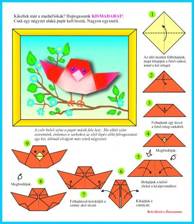 Origami bird.