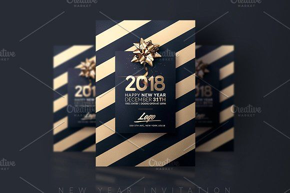 New Year  Invitation Template By Creative Flyers On