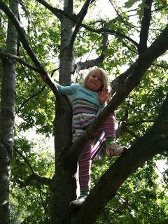 U is for Up and Up and Up   Creative STAR Learning   I'm a teacher, get me OUTSIDE here! Tree climbing in preschool