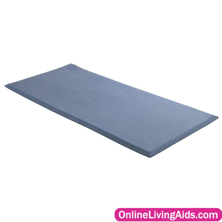 "Drive Medical - Mason Medical - 14701-bl - Safetycare Beveled Edge Solid 1 Piece Fall Mat, 24"", Blue"