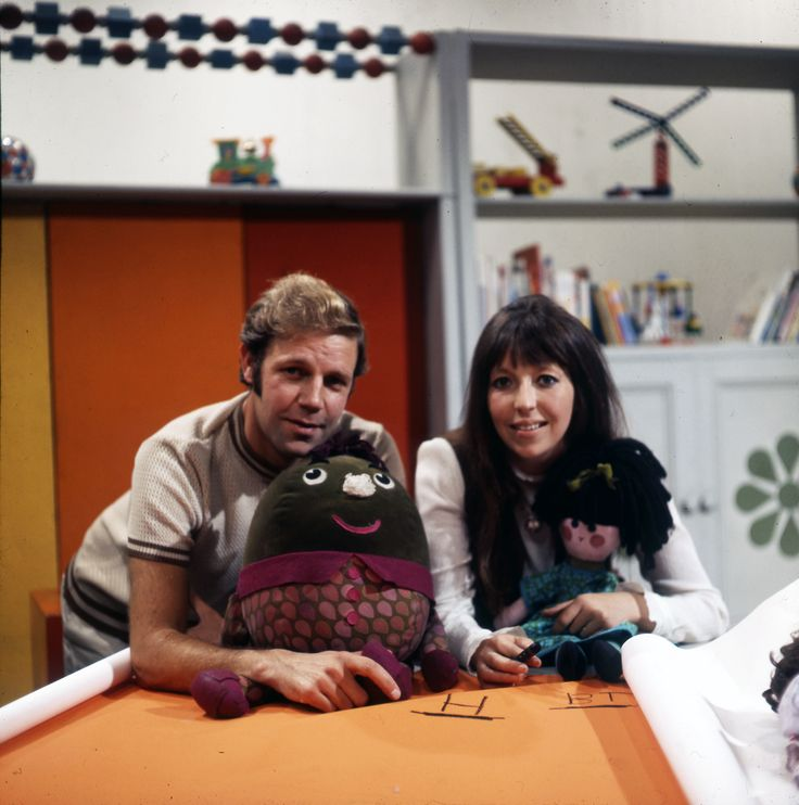 Brian Cant and Chloe Ashcroft from Play School in 1970.