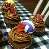 1000 Ideas About Volleyball Cupcakes On Pinterest