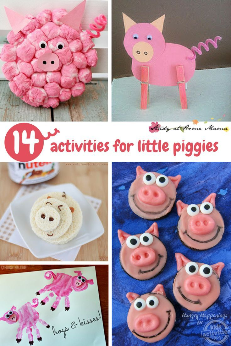 14 Activities For Little Piggies Farm Theme Activities For Kids