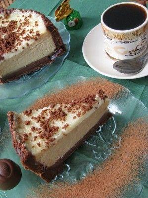 Кофейный чизкейк с шоколадной прослойкой