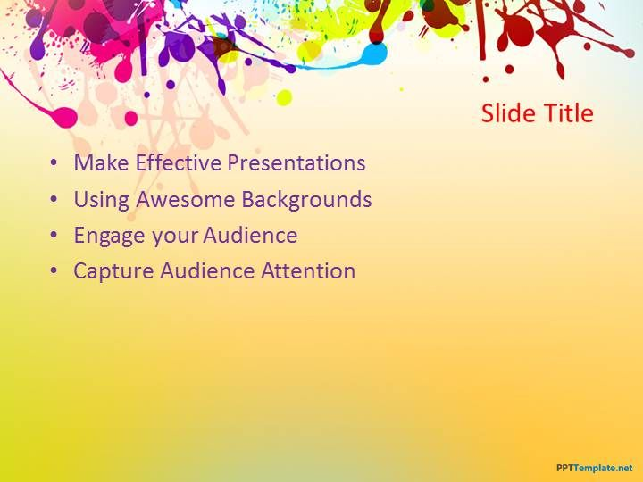 8 best templates powerpoint images on pinterest backgrounds add life to your presentations with colorful backgrounds for a fine arts project or to share ppt templatetemplatescolorful toneelgroepblik Choice Image