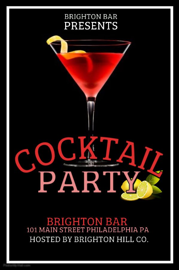 Bar Flyer Template Red Cocktail Party Click on the image to customize on PosterMyWall  Bar