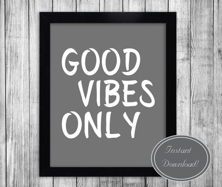 Printable Typography Art, 'Good Vibes Only' Grey & White Home Decor Inspirational Quote Motivational Poster Scandinavian Design Wall Ar by YouGrewPrintables on Etsy