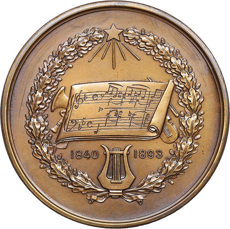 USSR tablemedal - Pyotr Tchaikovsky, 1951   Coins.ee - Numismatics