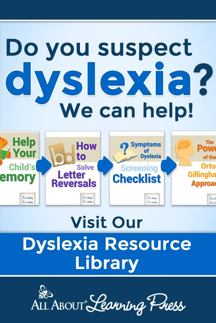 DYSLEXIA RESOURCES! Do you have a chid with dyslexia? Check out this ...