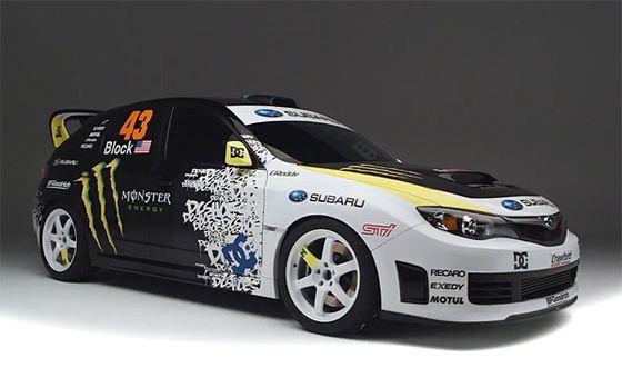 Ken Block's Rally Subaru  epic