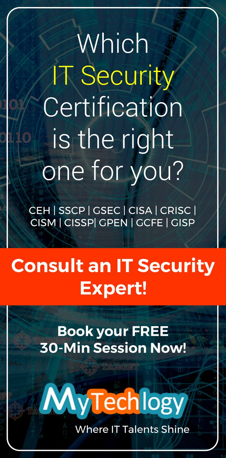 Consult an IT Security expert to discuss your career goals and find out which IT security certification is the right one for your career progression. Get your FREE 30-min consultation (No Credit Card Required). To book your appointment visit: https://www.mytechlogy.com/IT-career-development-services/career-coaches/Max-Boedder/ #cybersecurity #pentesting #itsecurity