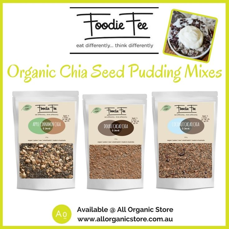 Have you tried Foodie Fee's Organic Chia Seed Pudding Mixes yet?  There's three amazing flavours - Apple, Cinnamon & Chia | Double Cacao | Coconut Cacao. Each pack have 5 serves.