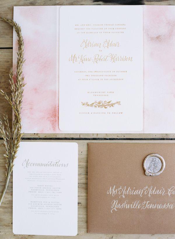 Elegant Nashville Fall Wedding325 best s t a t i o n e r y images on Pinterest   Stationery  . Nashville Wedding Invitations. Home Design Ideas