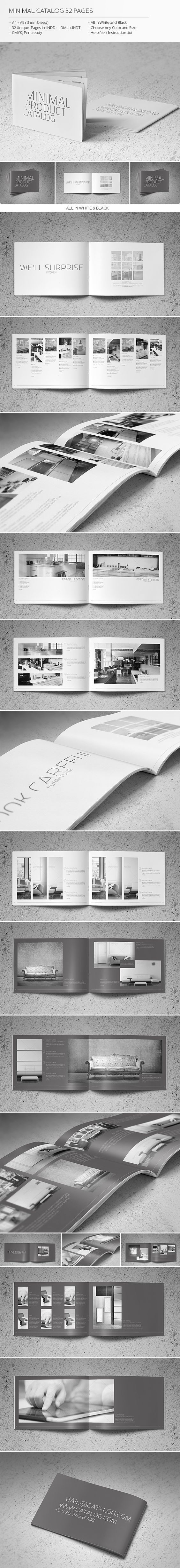 Minimal Catalog 32 Pages by Realstar , via Behance: More