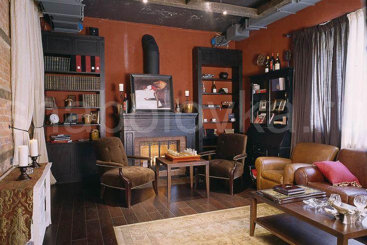 гостиная интерьер в стиле лофт / loft interior design Архитектурное бюро Шаболовка