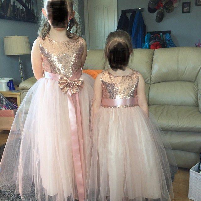 BLUSH Flower Girl Dress Prom Graduation Wedding Birthday Recital Gown Bridesmaid
