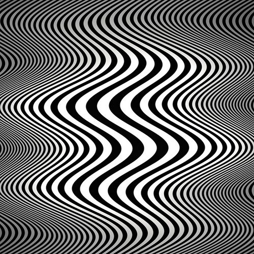 Op art waves (Tribute to Bridget Riley)- by Marco Braun