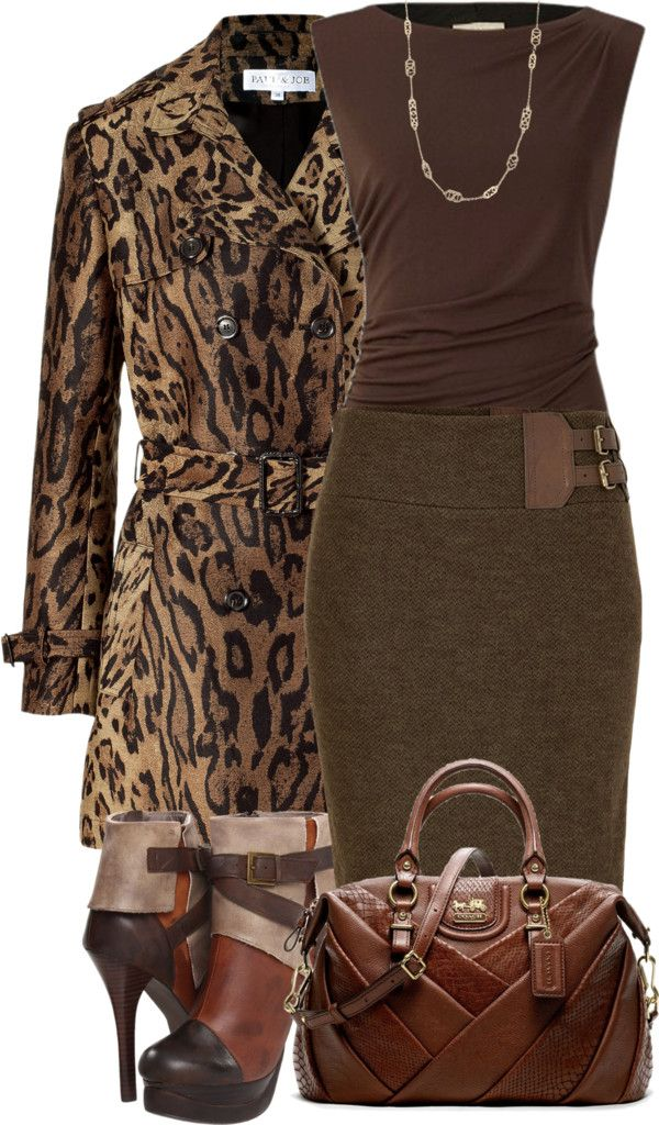 Brown and animal print ♥✤ outfit lbv