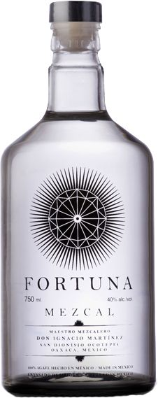 Fortuna Mezcal's pretty bottle