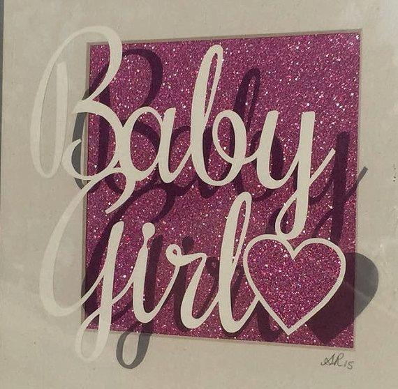 Baby meisje Papierknipkunst sjabloon persoonlijk gebruik
