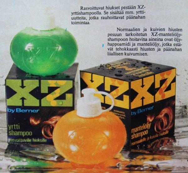 XZ shampoo -mainos 70-luku