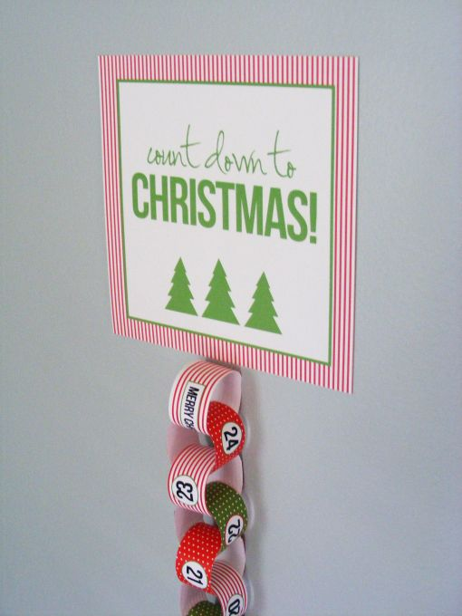 Christmas Countdown Chain with Free Printable