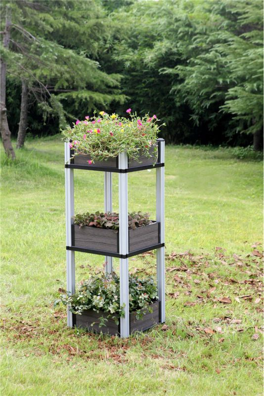 Build An Outdoor Garden Flower Box, Long Life Flower Box Planters Used  Composite, Diy