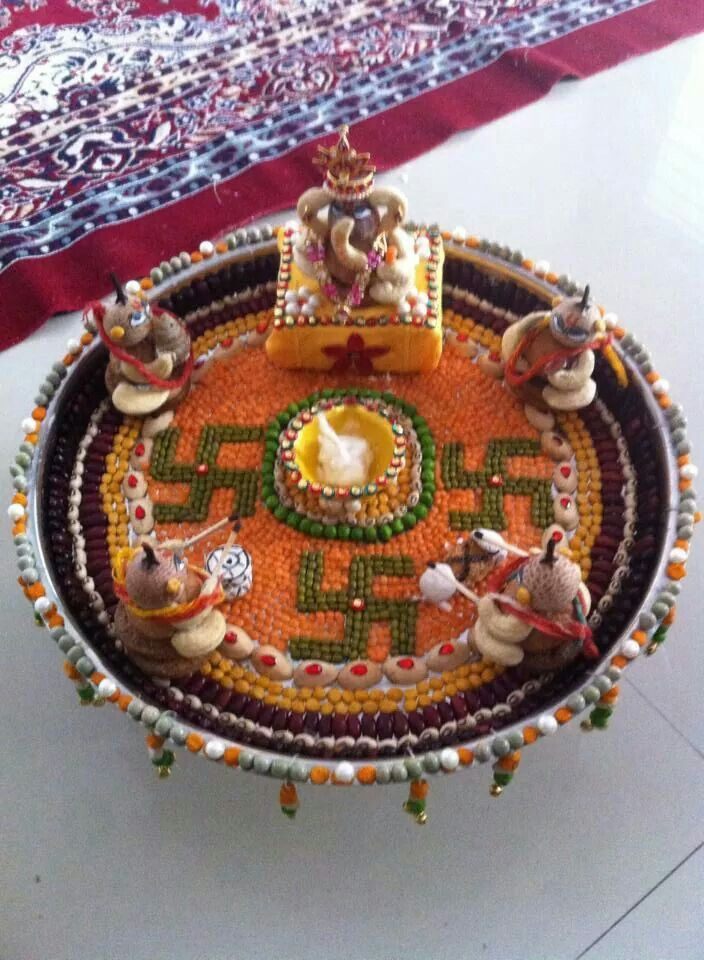 Arthi thali for pooja