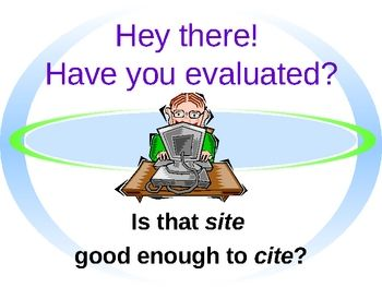 WebsiteEvaluation PowerPoint, middle school and up. Free on TpT. Marc Stern.