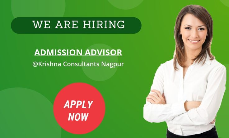 #Career Openings for the post of Admission Advisor at our Head office based at I.T. Park, Nagpur.