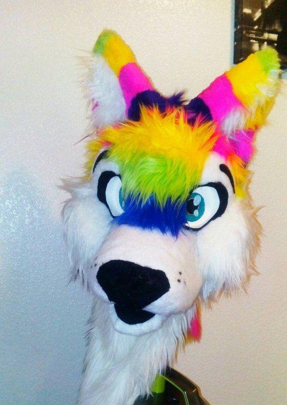 Custom Fur Head Fursuit Head Furry Suit Free Badges