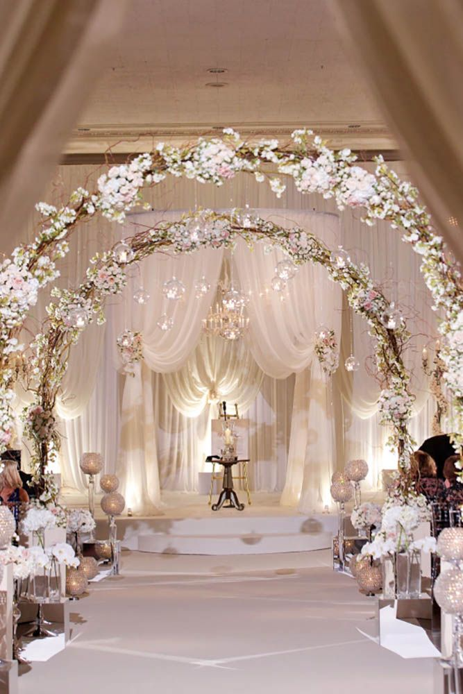 Wedding Designs Ideas trends we love 40 hanging wedding decor ideas 33 White Wedding Decoration Ideas