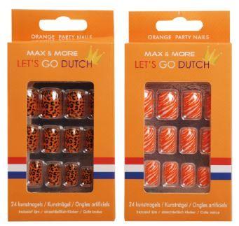 Wat vinden jullie van deze #nagels? Perfect voor #koningsdag! Koop deze en andere #oranje #accessoire bij Action. Bekijk de #folder van #Action via www.reclamefolder.nl of download onze app.