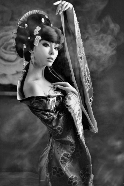 """ she was a modern geisha but nevertheless perfect """