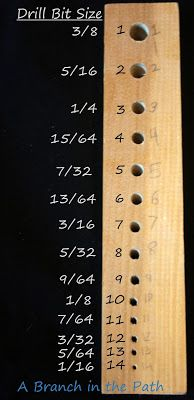 Draw Plate and Drill Bit Sizes for Viking Knit- A Branch in the Path