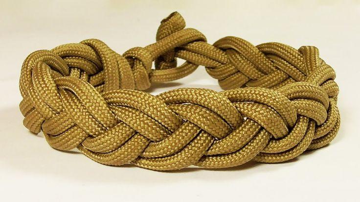 Braided Turk's Head Style Sailor's Knot Bracelet Music Version
