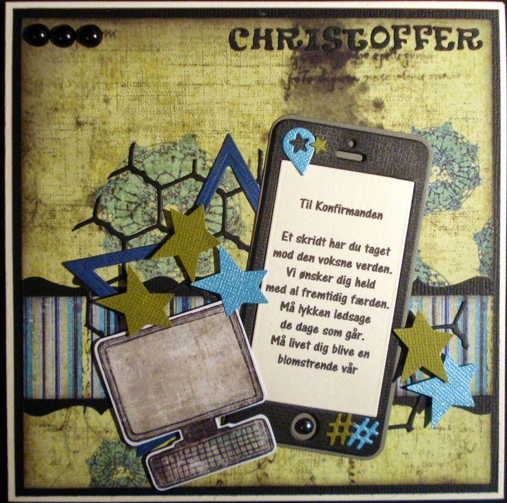 Slipsager scrapbooking & Cards: konfirmationskort