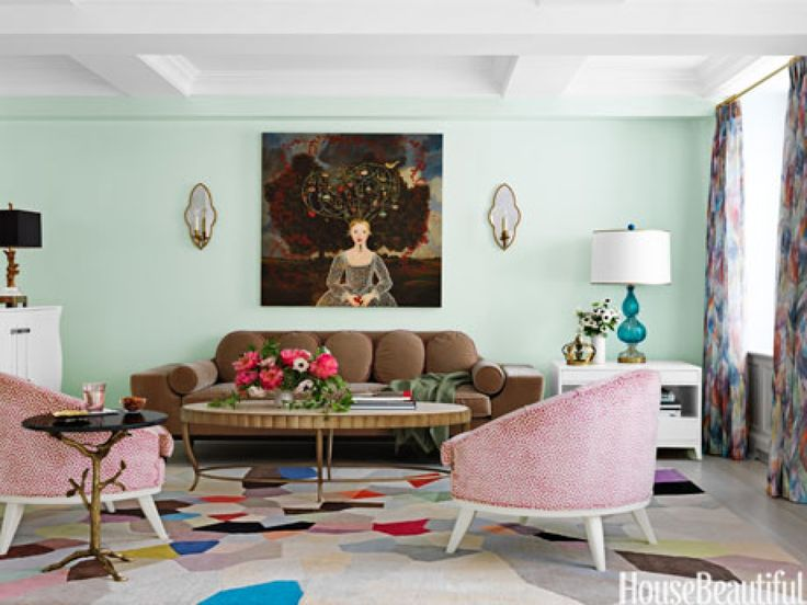 Trendy Mint Living Room, Also Reminiscent Of Neapolitan Ice Cream. To Bring  A Feeling Of Nature Into A New York Living Room, Designer Fawn Galli Used A  ... Part 72