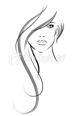 woman face / hair illustration