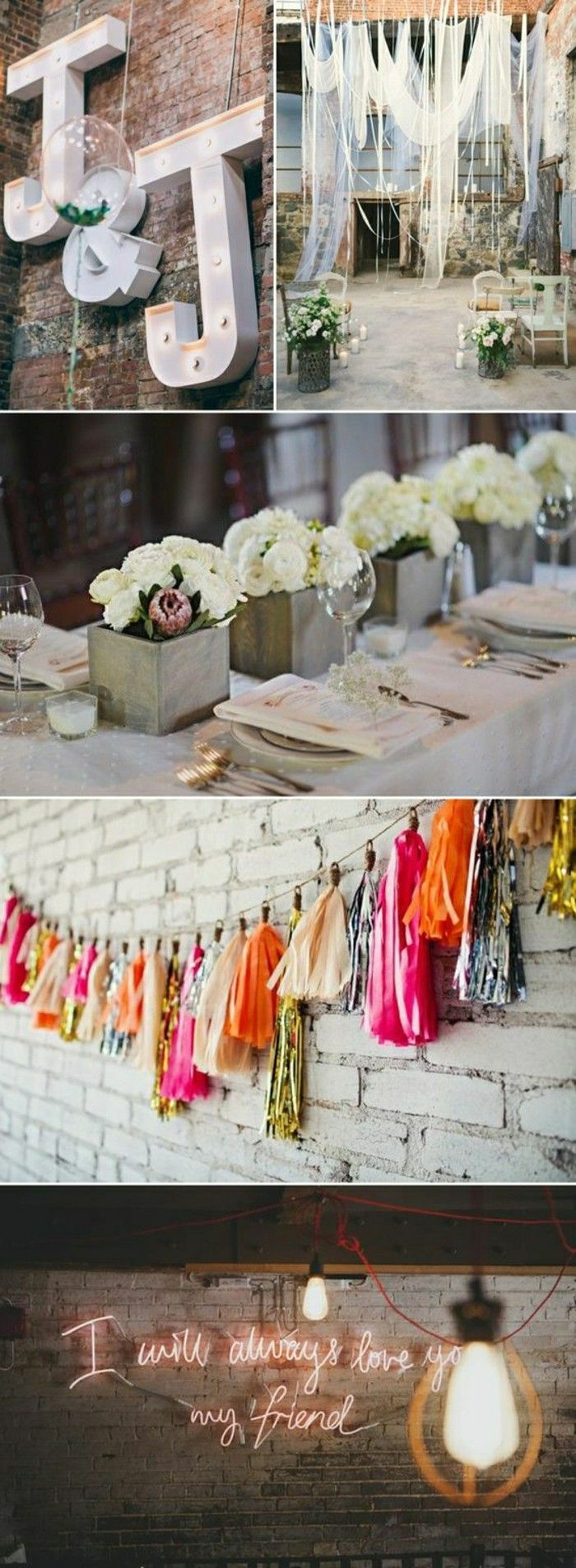 mariage thèmatique, comment décorer pour un mariage urbain