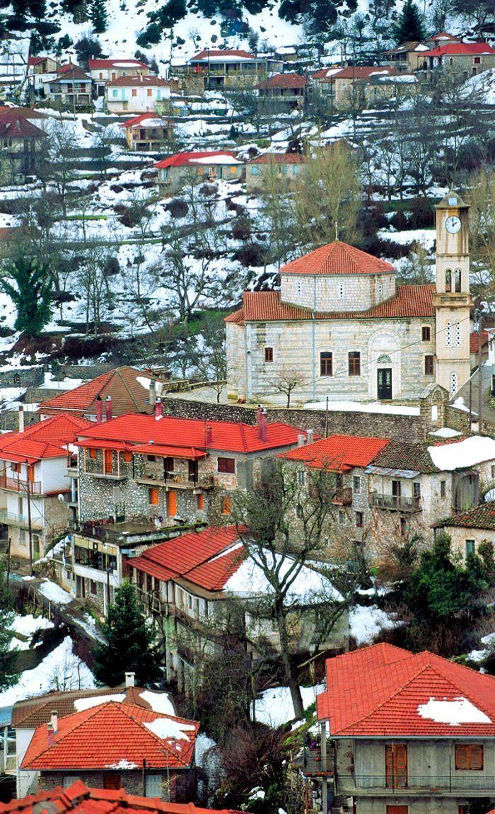 Valtesiniko village, Arcadia (Peloponnese), Greece