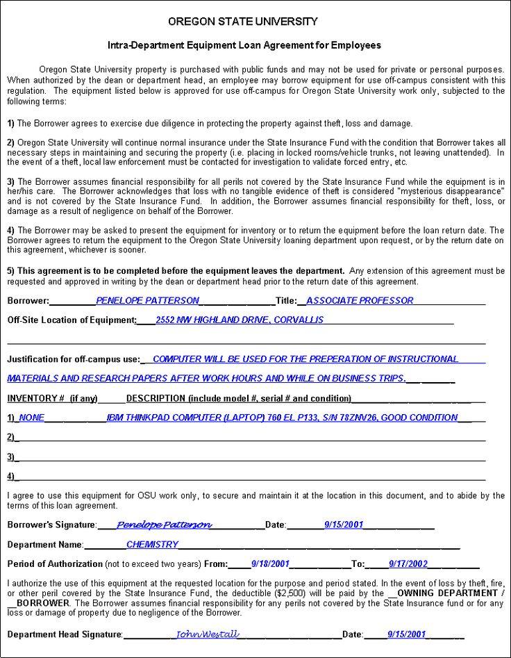 Printable Sample Loan Agreement Form