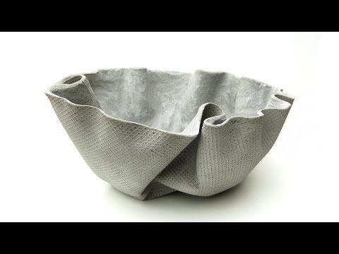 How to ShapeCrete :: Make a Draped Concrete Planter – YouTube – Lynne Sanka-Cooke