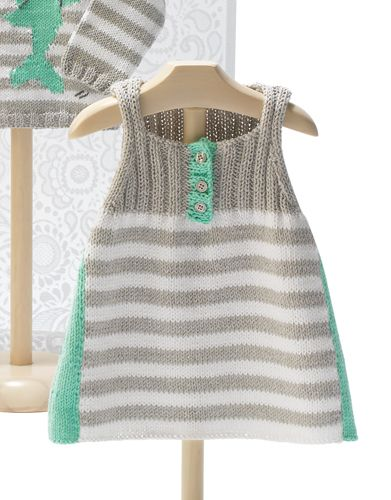 awesome knitted baby dress with cotton yarn