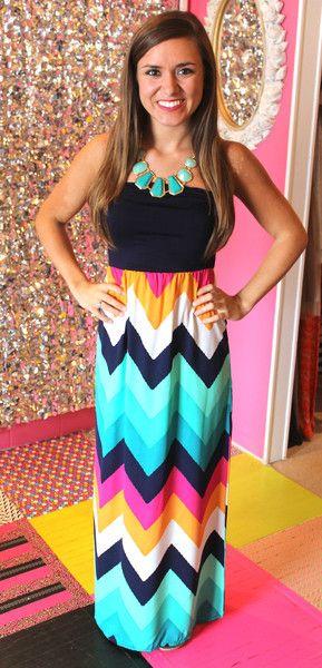 Confetti Chevron Maxi Dress! Presh.