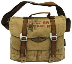 Military Canvas Bike Messenger Bag - Serbags.com