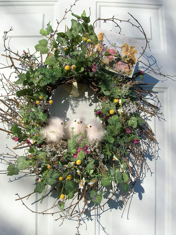 Spring Wreath...with fluffy chicks.