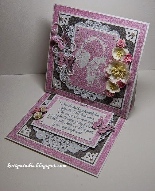 Konfirmasjon Jente North Star Design Handmade Scrapping Embossing Papirdesign