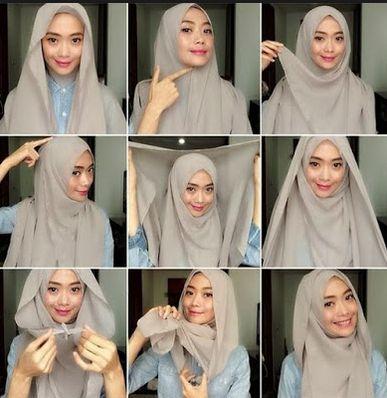 Koleksi terbaru tentang contoh   gambar   foto   kreasi   fashion   model   style dan tutorial cara memakai hijab modern simple sesuai trend terkini