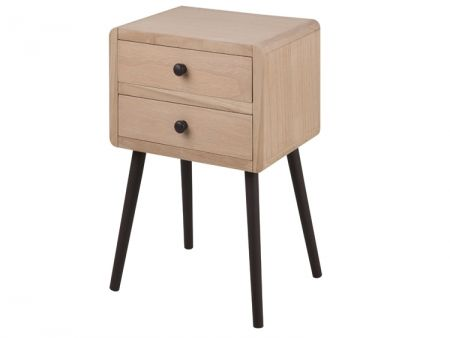 Torp 2 Drawer Pine Bedside Table